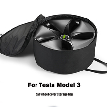 Car Wheel Cap Storage Bag for Tesla Model 3 Portable 3-layer Spacer Auto Wheel Cover Storage Bag Oxford Cloth Organizer