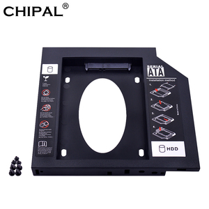 CHIPAL 9.5mm SATA to SATA Plastic 2nd HDD Caddy For SSD HDD Case Hard Disk Drive Enclosure Bay For Notebook ODD Optibay CD-ROM
