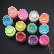 12 Candy Color Glitter Powder Sequins Resin Pigment Epoxy Resin Mold Jewelry DIY l29k