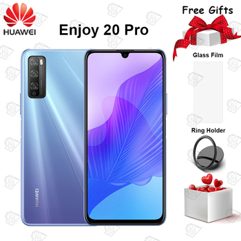 Перейти на Алиэкспресс и купить Новый оригинальный Huawei Enjoy 20 Pro 5G мобильный телефон 6,5 дюймов 6 ГБ + 128 Гб MT6873V Android 10 22,5 Вт Супер быстрая зарядка смартфон