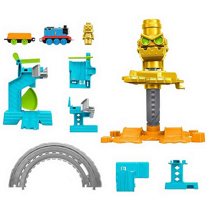Оригинальный мини-поезд, сплав, руководство по исследованию космоса, робот, железная дорога, подарок для мальчика, модель автомобиля, игрушки для детей