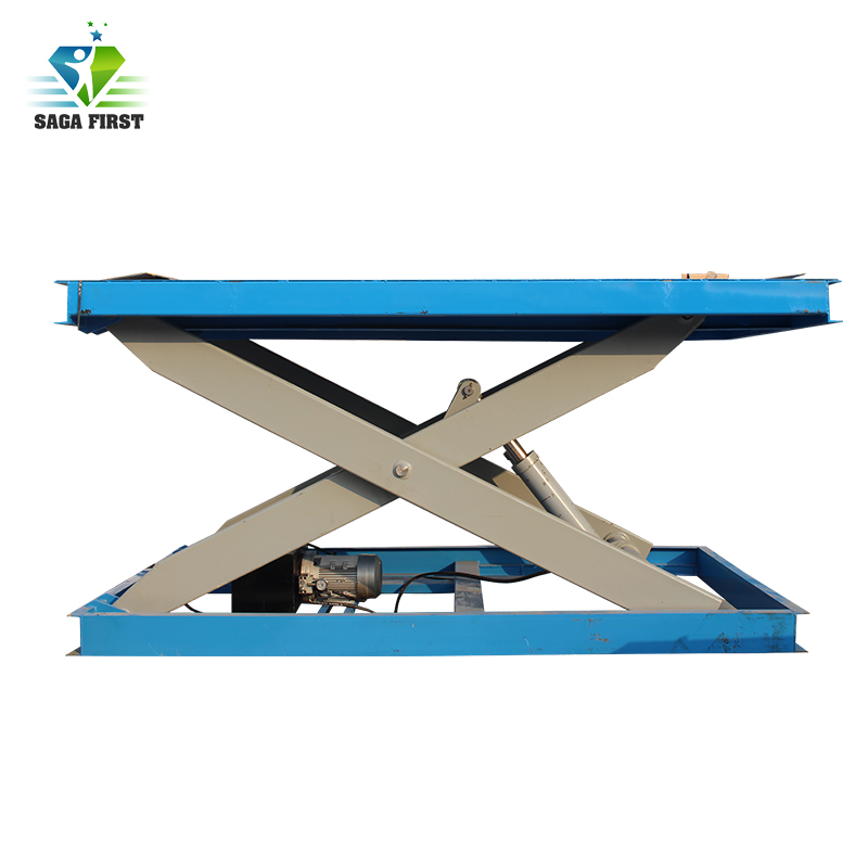 2.0Ton U Type Hydraulic Lifting Small Double Scissor Electric Lift Table