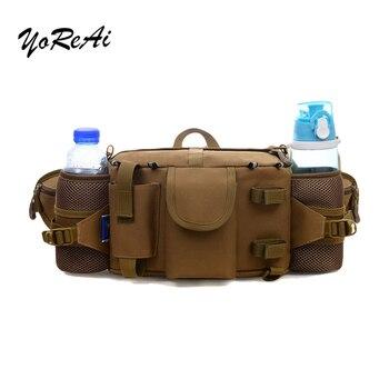 цена на YoReAi Camouflage Bag Military Tactical Outdoor Waist Belt Bag Portable Waist Pack Messenger Bum Bag Package Travel Running Bags