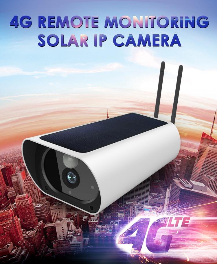 Gratis Verzending 2MP Zonne energie Camera 4G Sim kaart IP Bullet Camera Oplaadbare 4G Outdoor CCTV camera met 1080P Wifi Camera - 1