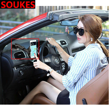 Rotation Sucker Car Mobile phone GPS navigation Holder For Fiat 500 Abarth Mercedes W176 W204 W210 CLA E BMW E60 E36 E34 image