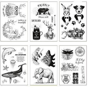 Hot selling Animal time alphabet transparent clear stamp / silicone seal roller stamp DIY scrapbook album / card production