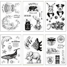 Venda quente animal tempo alfabeto transparente selo transparente/selo de silicone rolo selo diy scrapbook álbum/cartão de produção
