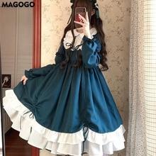 Costume Dress Long-Sleeve Lolita-Style MAGOGO Pink Cute New-Fashion Kawaii Loose Women