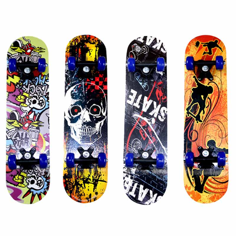 5 Layers Maple Skateboard 43*12.5CM Double Rocker Penny Board Four-wheel Skate Board For Kid Longboard Trucks Skateboarding Deck