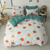 Dropshipping Bedding Sets Duvet Cover3/4pcs Cartoon new fashion Bed sheets s Gifts for Children Orange orchard