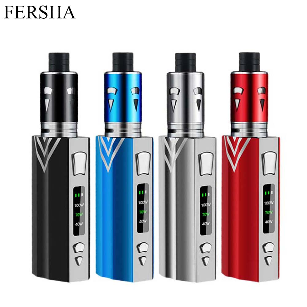FERSHA Vape Kit Electronic Cigarette Mod Kit Box 2200 MAh Internal Battery 0.3 Ohm 2 Ml E Cigarette Atomizer Quit Smoking Vaper