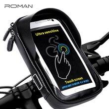 ROMAN 6 0 inch Waterproof Bike Bicycle Mobile Phone Holder Stand Motorcycle Handlebar Mount Bag For
