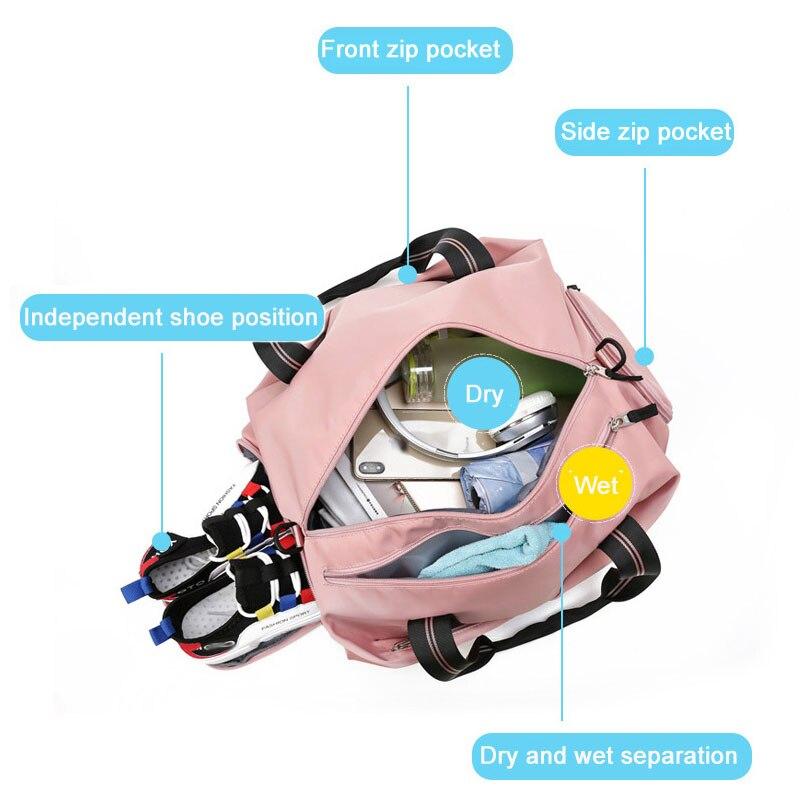 Women Gym Bag Sports Fitness Handbag Training Bags For Shoes Travel Dry And Wet Yoga Mat Sac De Sport Mochila Sporttas 3