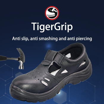 Tigergrip Men's Work Safety Shoes Steel Toe Breathable Lightweight Anti-smashing Anti-puncture Construction Protective Footwear larnmern mens steel toe safety shoes lightweight breathable anti smashing anti puncture anti static protective work boots