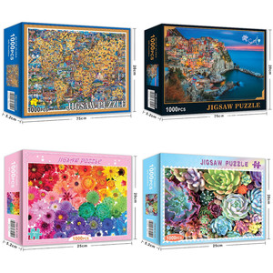 31 Style Jigsaw Puzzle 1000 Pieces Educational Puzzle Games Toys Assembling Picture Landscape Puzzles For Adults Children Gifts