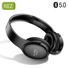 REZ H1 Pro Bluetooth kulaklıklar kablosuz kulaklık aşırı kulak gürültü HiFi Stereo iptal oyun kulaklığı Mic ile destek TF kart