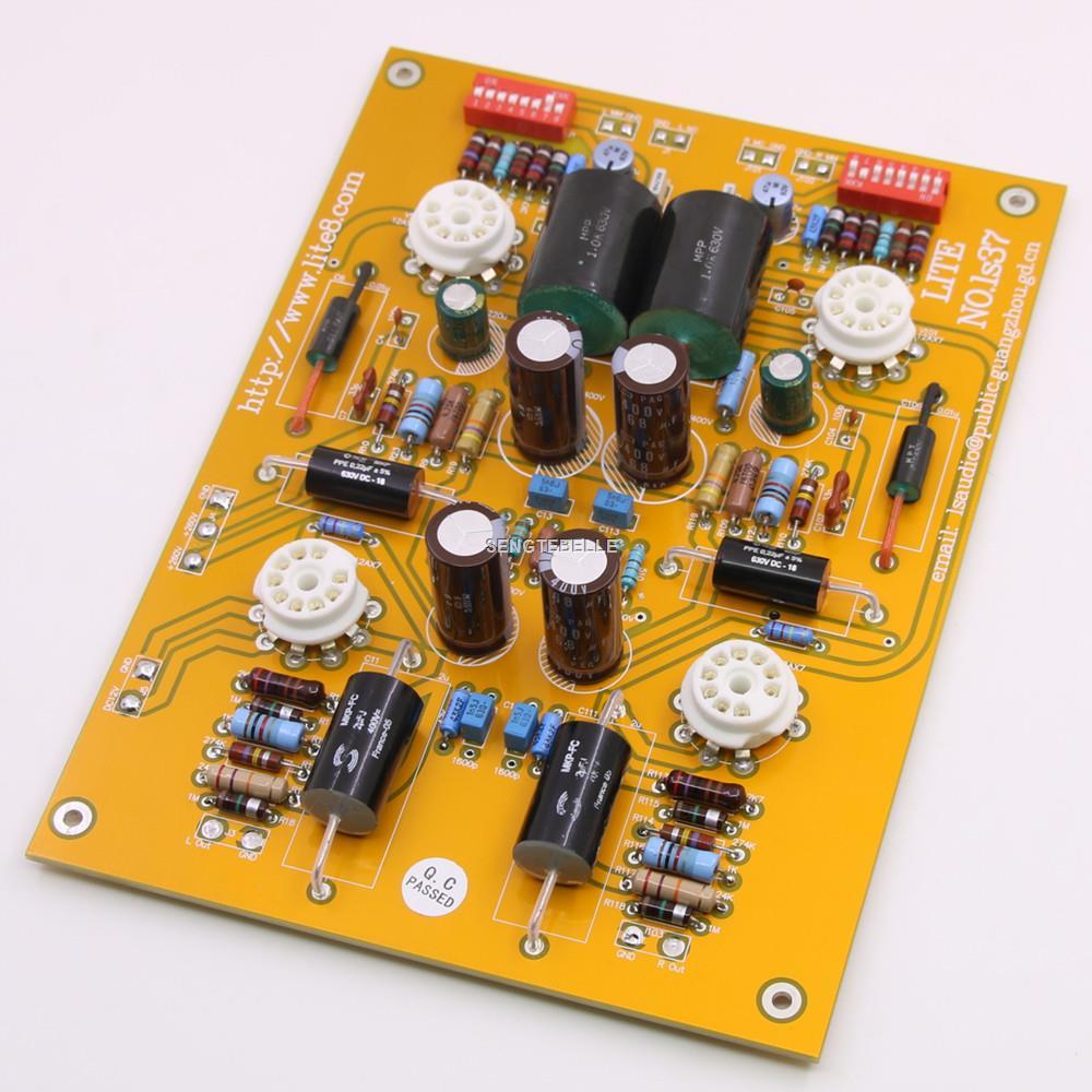 Panneau de scène phono à tube LS37 assemblé MM et MC double entrée (sans tubes)