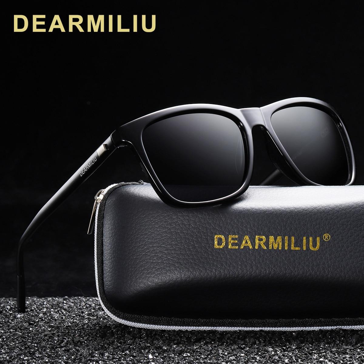 DEARMILIU Brand Unisex Retro Aluminum+TR90 Sunglasses Polarized Lens Vintage Eyewear Accessories Sun Glasses For Men/Women 6108