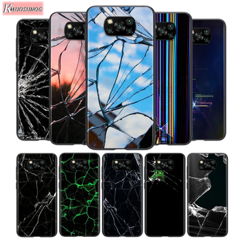 Craked screen For Xiaomi POCO C3 F1 F2 X2 X3 M2 M3 NFC Pro Mi 5 6 Mix 3 10T A2 lite Pro Note 10Pro Phone Case image