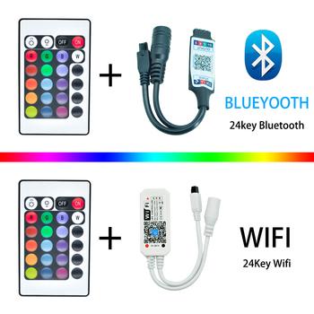 DC 12V listwy RGB LED mini kontroler ściemniacz IR Bluetooth WIFI 44 22 klucz pilot kontroler Led dla 2835 5050 listwy Led tanie i dobre opinie YTBLX Bluetooth WIFI 44 22-key remote 5-30M Kontroler RGB 72W-192W 5050 2835 led light strip 12 v