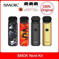 Original SMOK Kit com Bateria Embutida + Bobinas + Pod 3 Nord ml Para O Cigarro Eletrônico vs smok infinix/ novo kit caneta vape