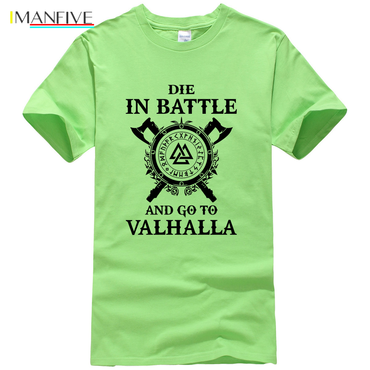 Summer 2019 New Fashion Vikings ODIN Top Men 39 s T shirts DIE IN BATTLE AND GO TO VALHALLA Funny T Shirt Men Harajuku Tops Tees in T Shirts from Men 39 s Clothing