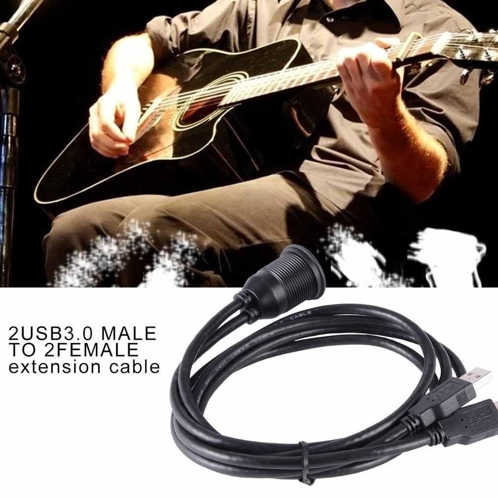 2 puertos USB3.0 macho a 2 hembra cable de extensión Panel de salpicadero de coche montaje a ras doble Usb 3,0 macho a hembra cable de extensión de Ma953