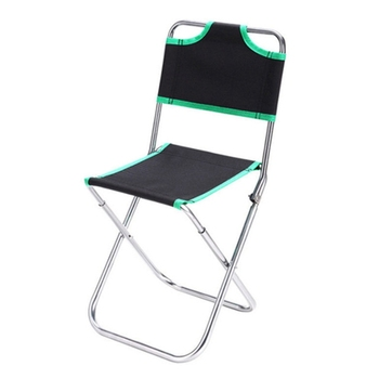 Outdoor Foldable Aluminum Chair Fishing Chair Folding Chairs Camping Picnic Beach Travel Portable(Green)