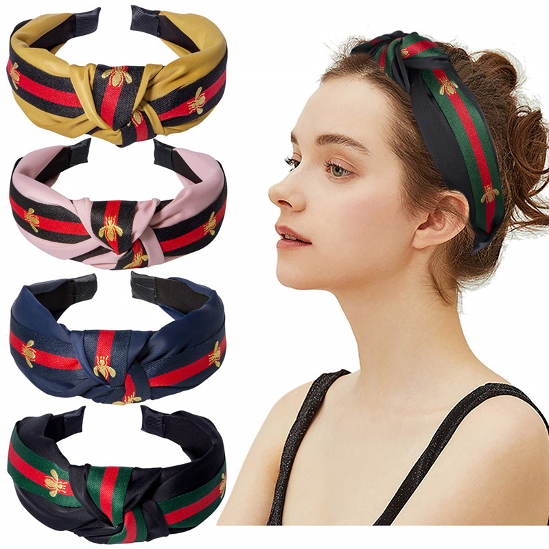 Hot Fashion Headband Accessories Sale Wide Edition Solid Color Cloth Tie Wrap Waist Hair Band Women's All-around  Accessories