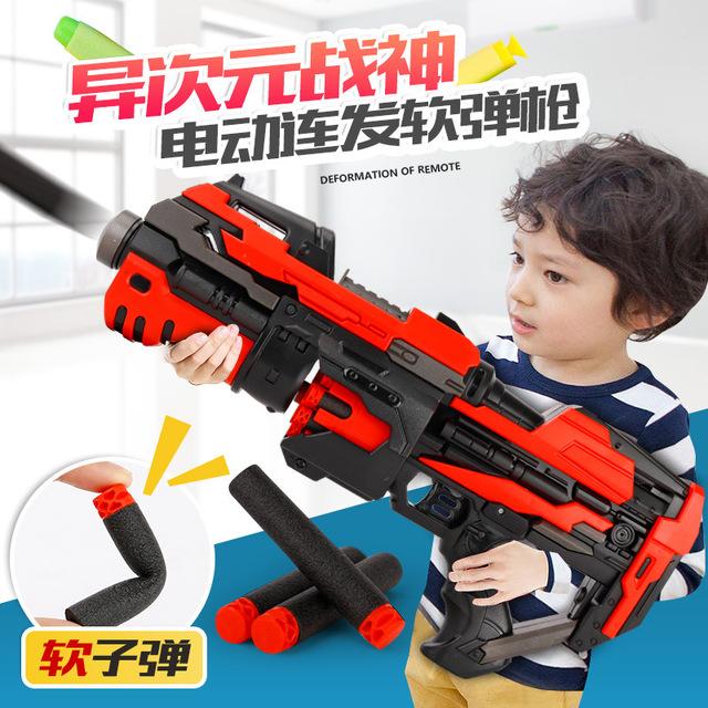Children's Air Soft Bullet Gun Electric Continuous Soft Bullet Gun Outdoor Shooting Wholesale of Children's Toys rubber band gun