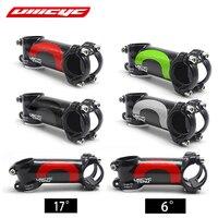 Ullicyc 4 색 합금 + 3k 탄소 6/17 학위 줄기 산악 자전거 도로 자전거 60 120mm 줄기 frok 28.6mm 막대 31.8mm LGA01 17 degree degree stem17 degree stem -