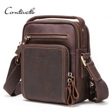 Retro Crazy Horse Leather Men's Messenger Bag Multifunctional Male Mobile Phone Shoulder Bag Fashion Multifunctional File Bag(China)