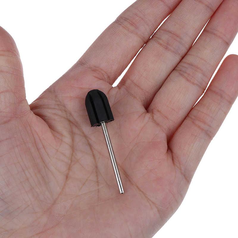Лидер продаж 2 шт./компл. БУР с резиновым наконечником бит матч шлифовка ногтей Кепки Электрический Фрезер для ногтей, фрезер для педикюра, 5*11 7*13*10*15*13*19*16*25