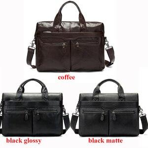 Image 4 - WESTAL Männer Aktentaschen männer Tasche Aus Echtem Leder büro Taschen für Männer Laptop Tasche Leder Aktentasche Mann Anwalt/Computer taschen 9005