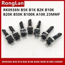 [Bella] 09 tipo misturador potenciômetro de som rk0936n b5k b1k b2k b10k b20k b50k b100k a10k (outros) dshatf l = 30mm 23mmf-10pcs