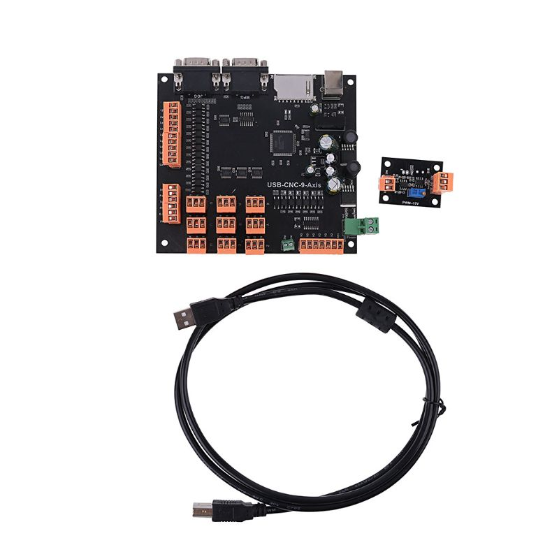 USB 9 Axis 100KHz CNC Stepper Motor Controller Breakout Board with MPG Interface For Engraving Machine
