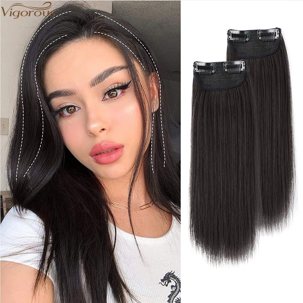 Vigorous Clip in Hair Short Straight Hairpieces Invisible Hairpin Hair for Thinning Hair Adding Hair Volume Heat Resistant Fiber