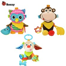 Baby Toys Hanging Mobiles Sozzy Rattles Stroller Animal Infant Soft Cute Cotton Plush