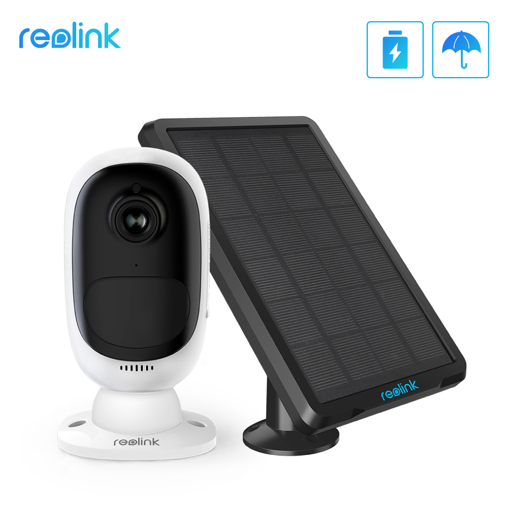 Reolink Argus 2 and Solar panel Continuous Rechargeable Battery 1080P Full HD Outdoor Indoor Security WiFi Innrech Market.com
