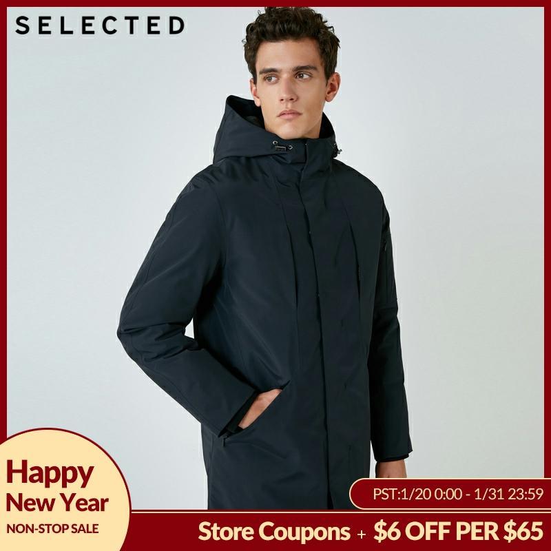 SELECTED Winter Down Jacket Men's Parka Coat Duck Down Male Medium-long Clothes S | 418412501