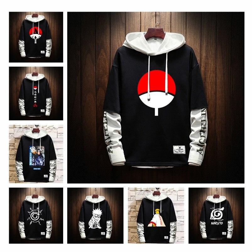 Uchiha Sasuke Sharingan Cosplay Unisex Hoodies Sweater Hooded Pullover Coat
