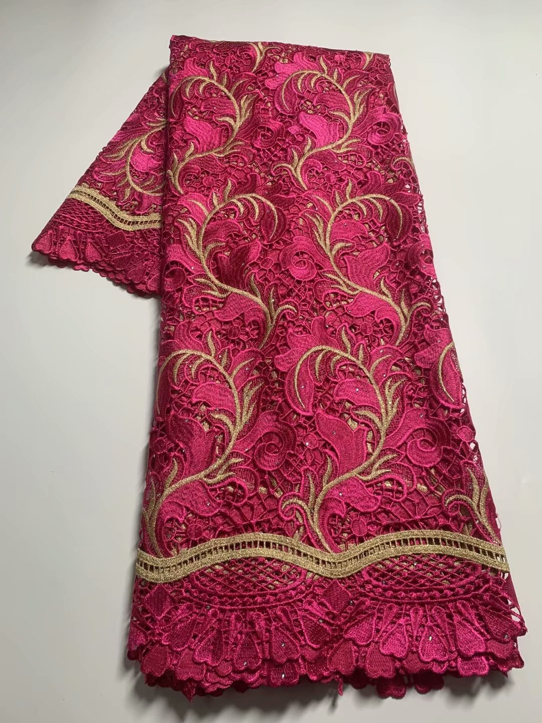 TG27 Good looking embroidered guipure lace fabric,African Dresses for birthday celebrations