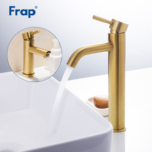 Frap Basin Faucets brushed gold bathroom basin tap faucet stainless steel sink mixer water torneira tapware