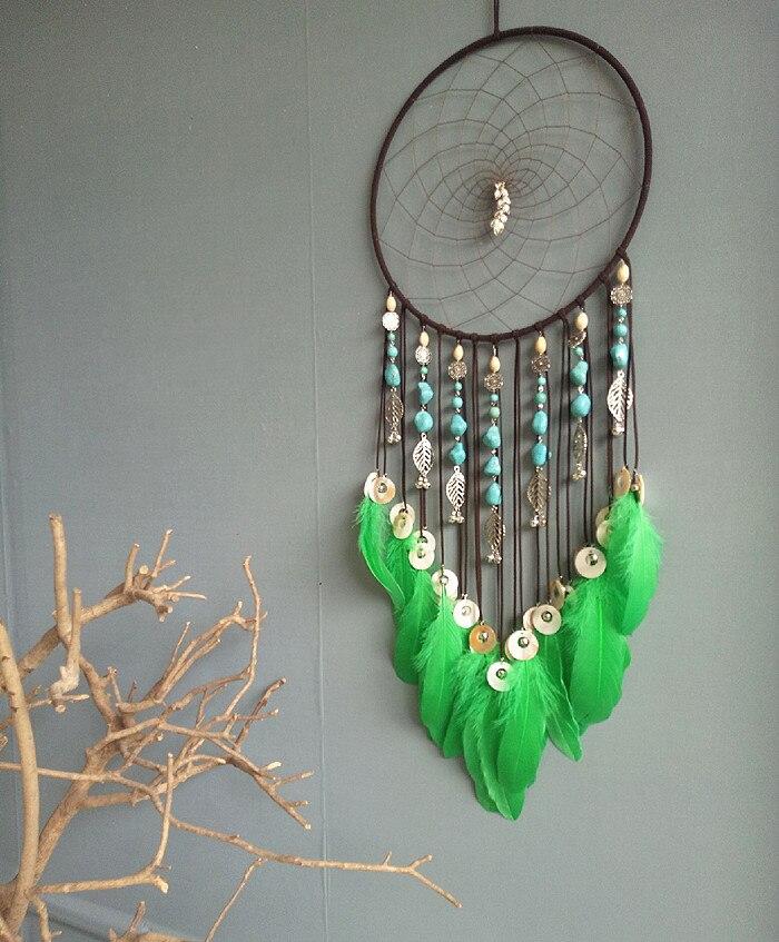 Один кусок ручной работы Ловец снов перо кисточки украшения стены украшения дома 30*80 см - 2
