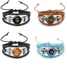 цены на Hot Bohemian vintage handmade Rope multilayered leather bracelet Allah Time Gem Leather Beaded Fashion jewelry men Women Gift  в интернет-магазинах