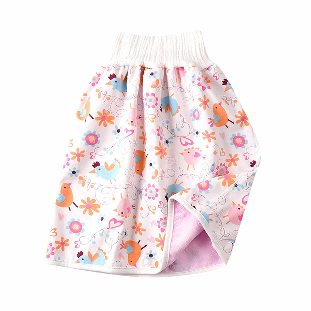 washable Leakproof reusable Leakproof diaper skirt with high waist training skirt for baby boys Mowtom Baby diaper skirt