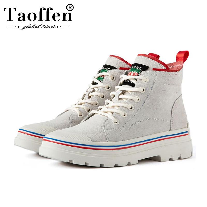 Taoffen 2020 Women Comfortable Sneakers Platform Cross Strap Fashion Leisure Shoes Simple Style Sneakers Footwear Size 35-40