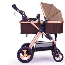 лучшая цена 2019 ultra light portable baby stroller folding shock absorber baby stroller can be on the plane baby child trolley