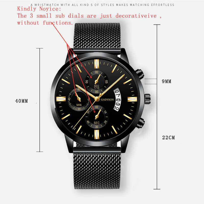 גברים של שעון יוקרה עסקי קוורץ שעוני יד איש פשוט אנלוגי שעונים גברים קלאסי עור רשת החגורה מזדמן זכר יד שעון