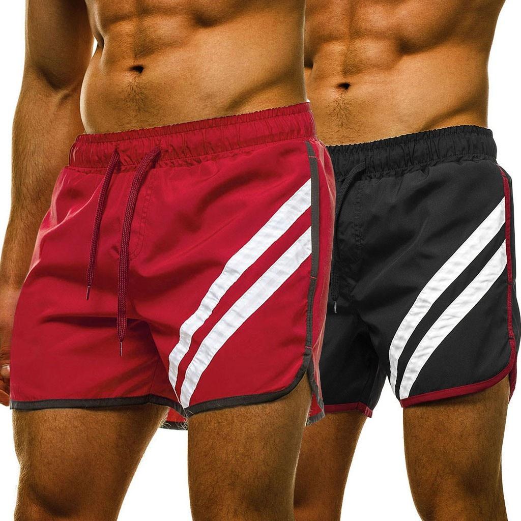 Shorts Beachwear Men шорты мужские Gym Clothing Fashion Outdoor Summer Elastic Waist Trunks Beach Running Short Pants Free Ship